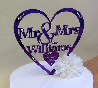 Mr And Mrs Cake Toppers Uk
